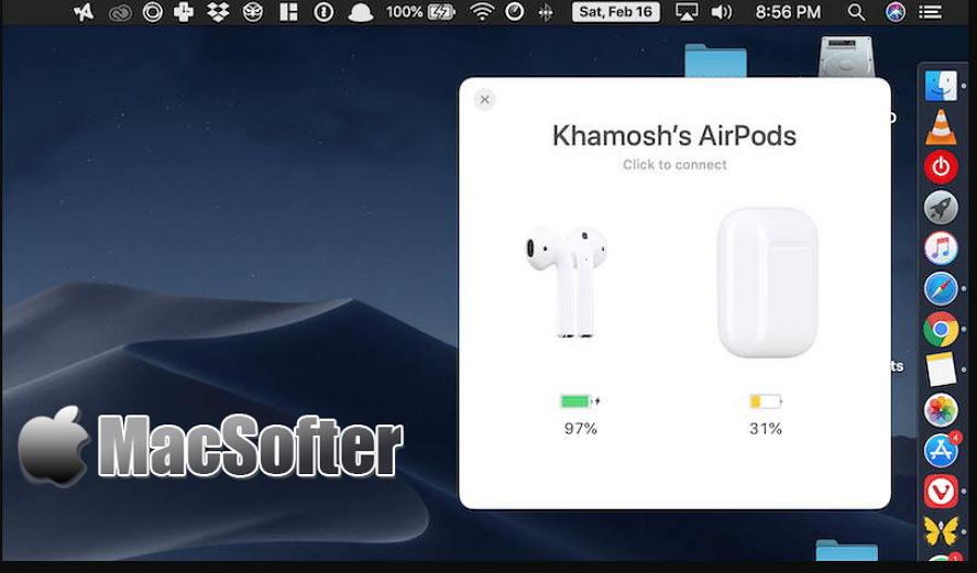 [Mac] Airbuddy : AirPods耳机连接管理软件