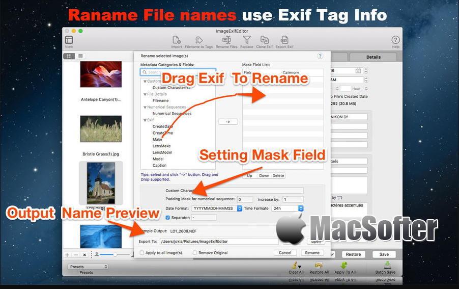 [Mac] Image Exif Editor : 照片EXIF元数据编辑软件