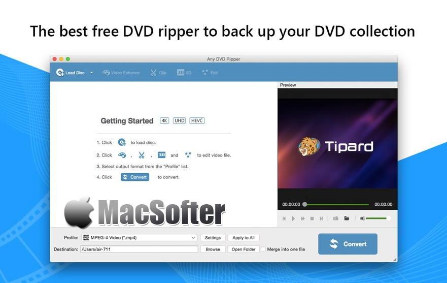 [Mac] Any DVD Ripper : DVD视频格式转换软件 Mac软件 第1张