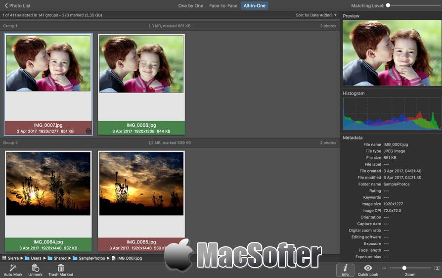 [Mac] PhotoSweeper :重复照片查找删除工具