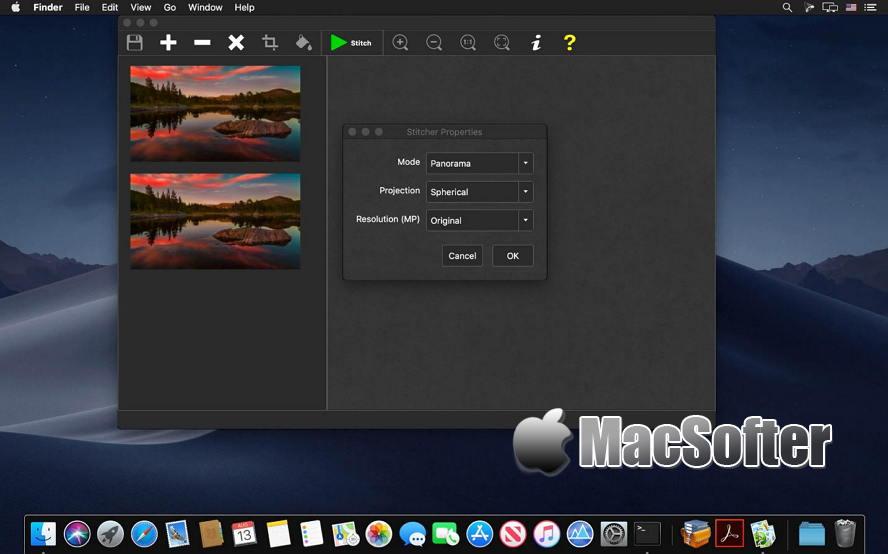 [Mac] PhotoStitcher : 将普通照片合成拼接成全景照片 Mac图像图形 第1张