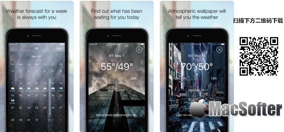 [iPhone/iPad限免] AtmoWeather : 界面精美的天气预报软件 iOS限免 第1张