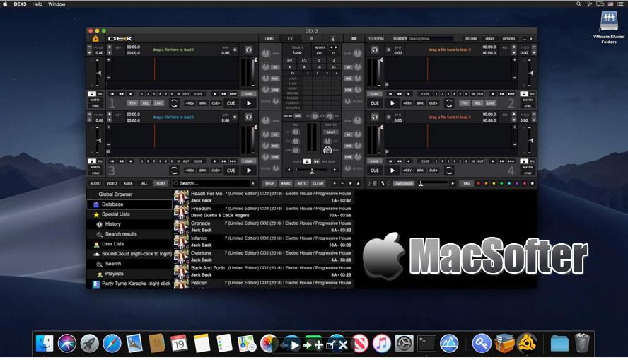 [Mac] PCDJ DEX : DJ音乐混音现场表演软件 Mac桌面工具 第1张