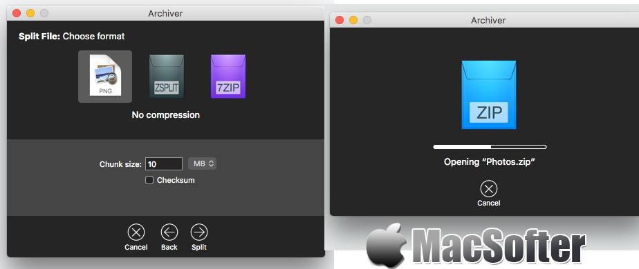 [Mac] Archiver : 压缩解压缩工具 Mac解压工具 第1张