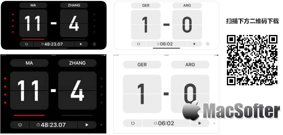 [iPhone/iPad限免] Table Score : 简单方便的比赛计分软件 iOS限免 第1张