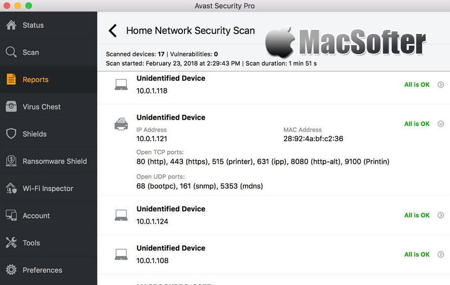 Avast Mac Security :免费Mac杀毒软件