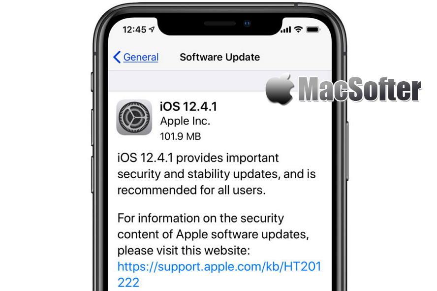 iOS 12.4.1更新 - 主要修复越狱漏洞