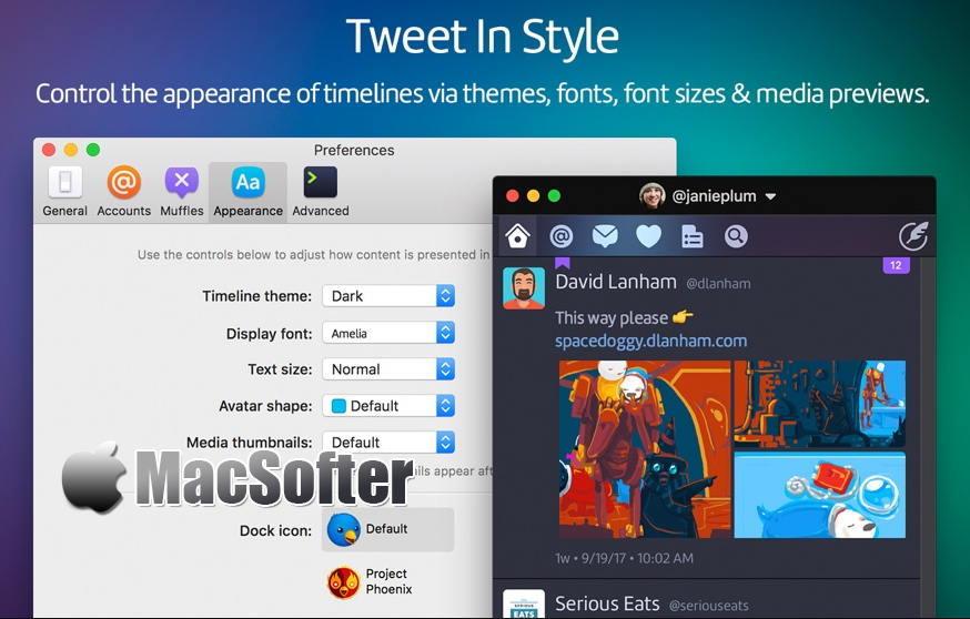 [Mac] Twitterrific : 最好的推特twitter客户端 Mac桌面工具 第1张