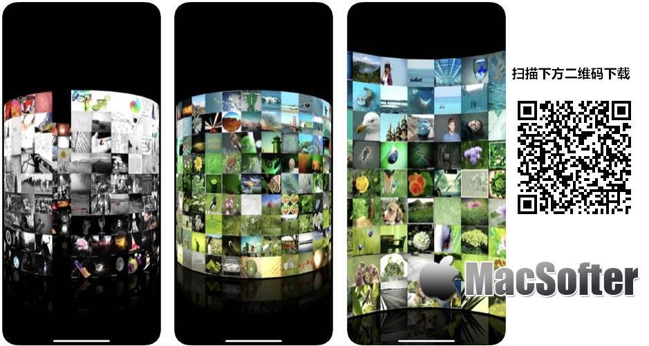 [iPhone/iPad限免] 3D Photo Ring : 立体环状照片墙看图软件