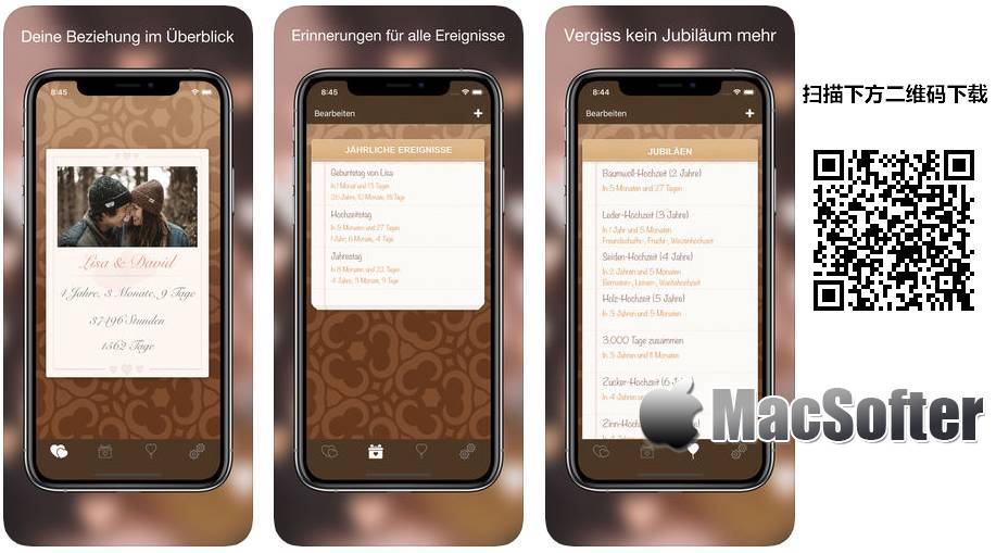 [iPhone限免] Liebeskalender :为情侣准备的爱情日历软件