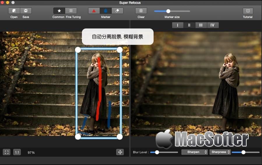 [Mac] 景深滤镜 After Focus : 图片背景虚化景深效果处理软件