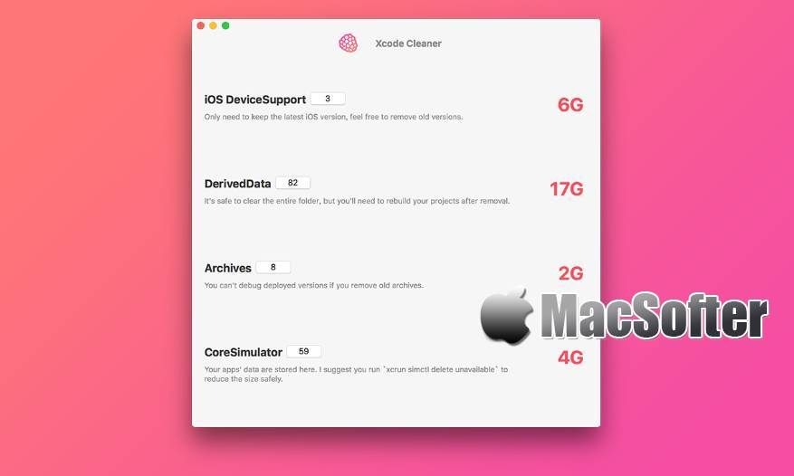 [Mac] Cleaner for Xcode : Xcode遗留以及废弃文件扫描清理软件