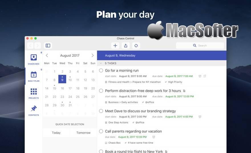 [Mac] Chaos Control : 好用的GTD任务管理工具