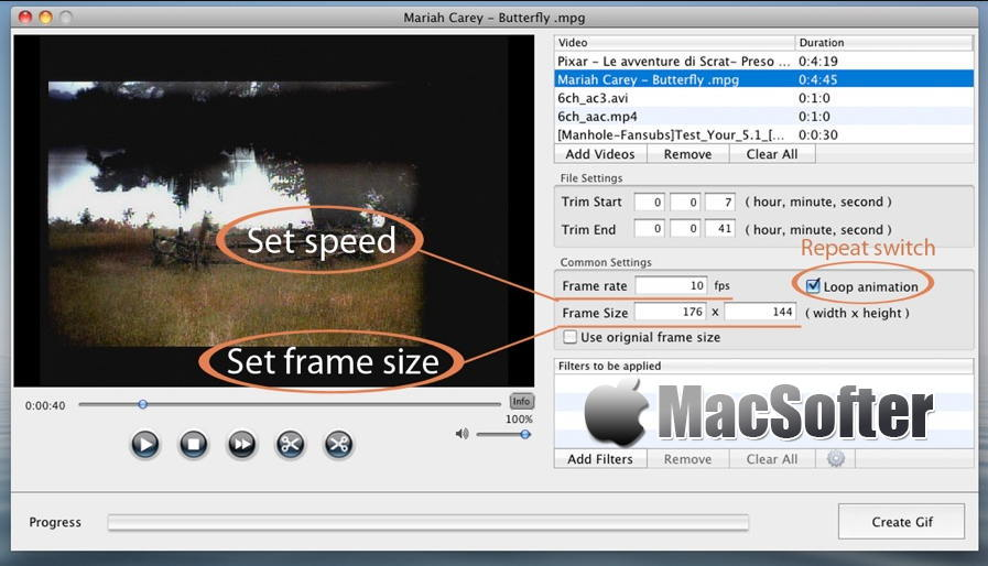 [Mac] Total Video2Gif : 视频转gif动图的软件