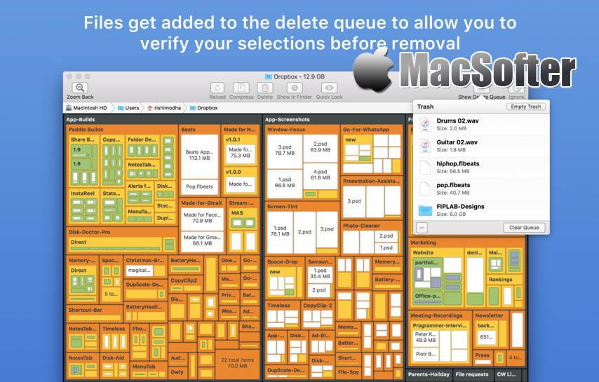 [Mac] Disk Map : 硬盘空间占用可视化分析工具