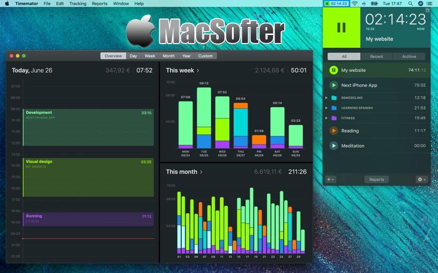[Mac] Timemator : 自动化时间跟踪统计软件 Mac生产力工具 第1张