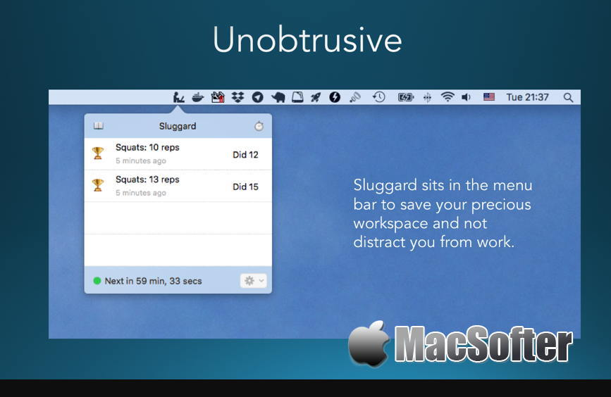[Mac] Sluggard :久坐休息提醒软件 Mac软件 第1张