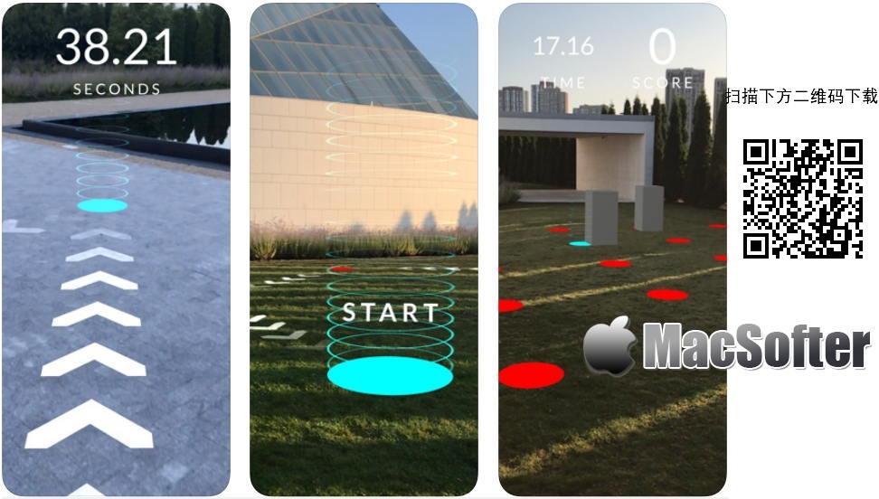 [iPhone/iPad限免] AR Runner :AR实景竞赛游戏 iOS限免 第1张