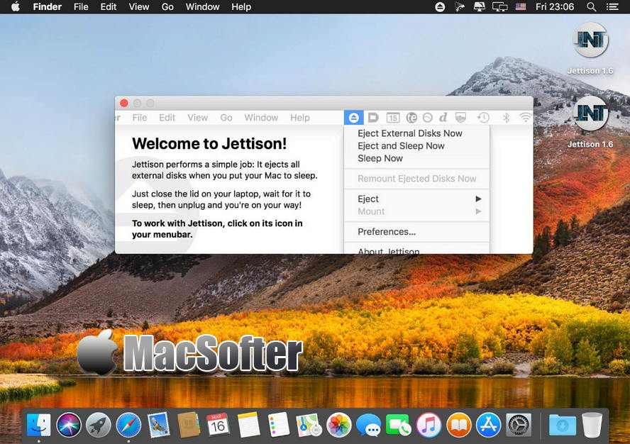 [Mac] Jettison :外接磁盘自动弹出软件 Mac辅助工具 第1张