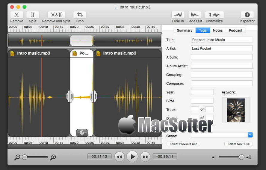 [Mac] Fission : 强大好用的音频编辑软件