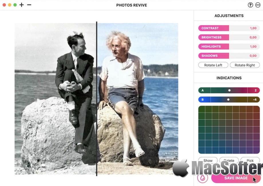 [Mac] PhotosRevive : 强大的照片着色软件
