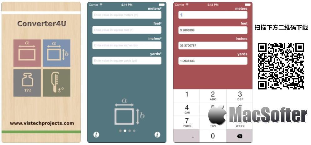 [iPhone/iPad限免] Converter4U : 好用的单位转换器 iOS限免 第1张
