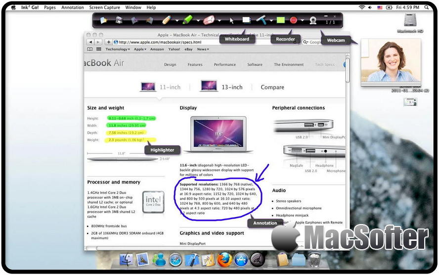 [Mac] Ink2Go : 屏幕注释及屏幕录像软件