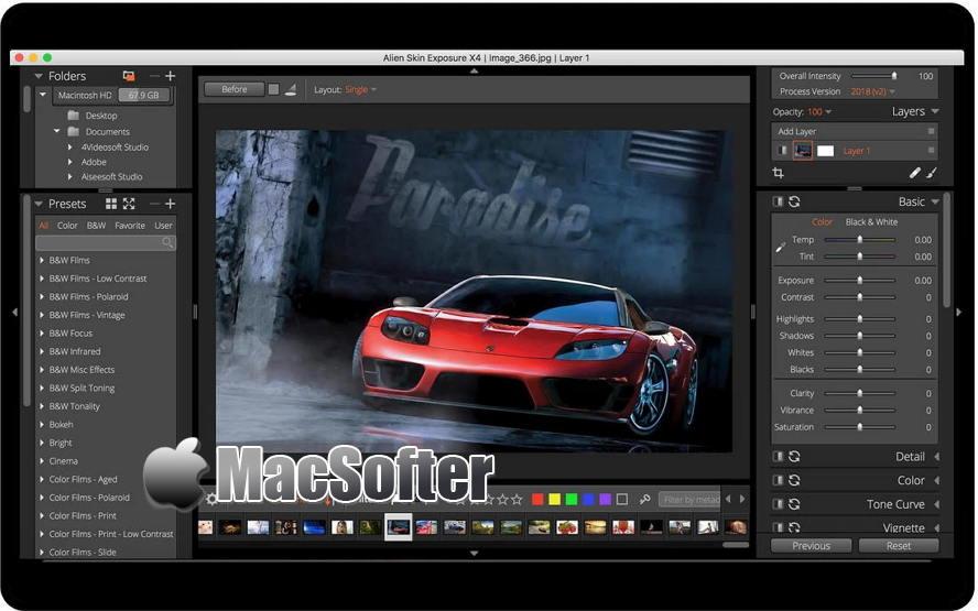 [Mac] Exposure X5 : 胶片调色滤镜模拟软件