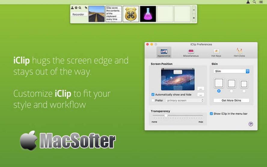 [Mac] iClip : 强大的剪贴板记录管理工具 Mac生产力工具 第1张