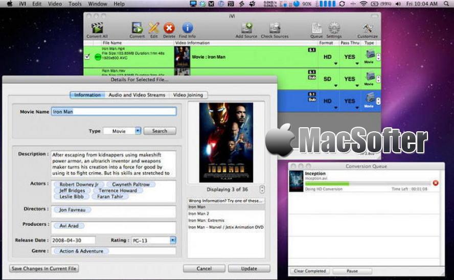 [Mac] iVI Video Converter : 专业的视频格式转换工具