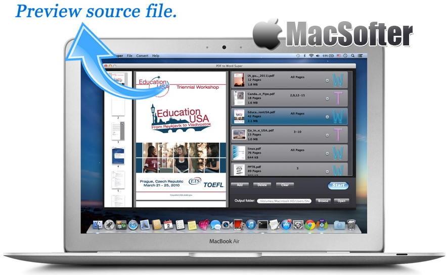[Mac] PDF to Word Super : 方便好用的PDF转Word文件转换工具 Mac办公软件 第1张