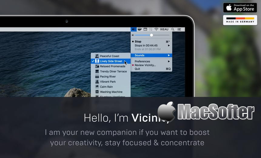 [Mac] Vicinity :让我们保持专注的白噪音软件 Mac辅助工具 第1张