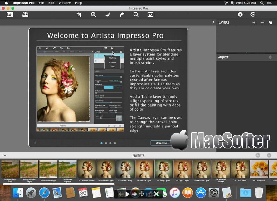 [Mac] Artista Impresso Pro :图片油画风格滤镜软件 Mac图像图形 第1张