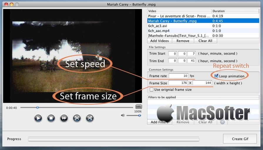 [Mac] Total Video2Gif : 将视频转换为GIF动图的软件