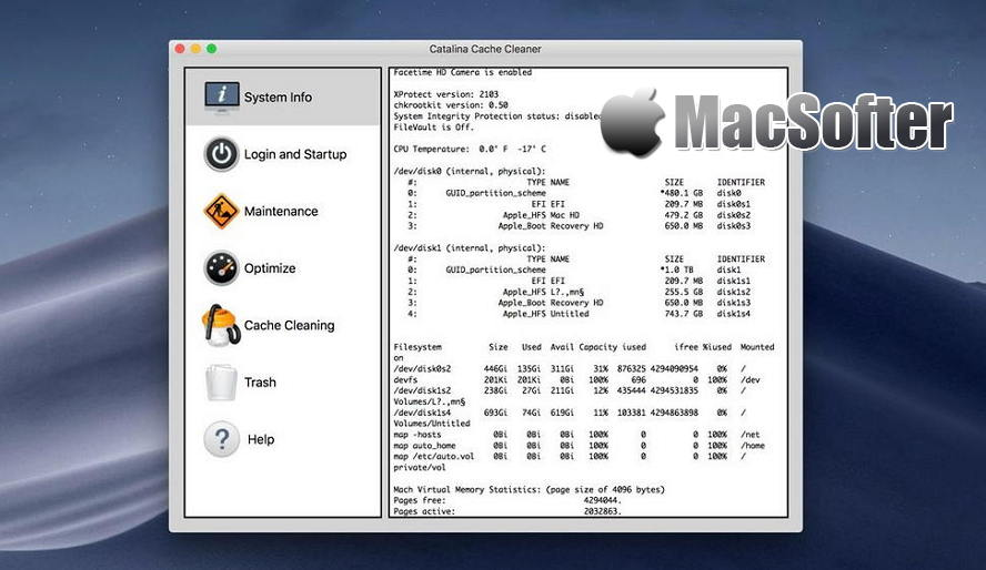 [Mac] Catalina Cache Cleaner : 系统优化清理工具