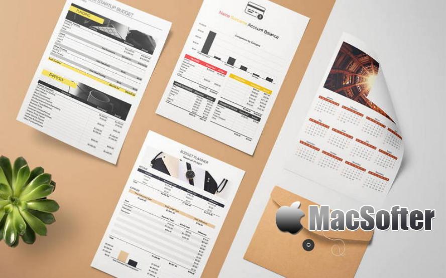 [Mac] DesiGN for Numbers - Templates : Numbers模板套件 Mac办公软件 第1张