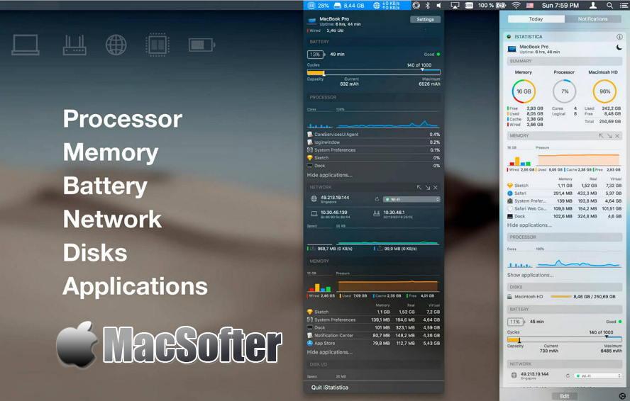 [Mac] iStatistica Pro : 系统运行状态监测工具 Mac辅助工具 第1张