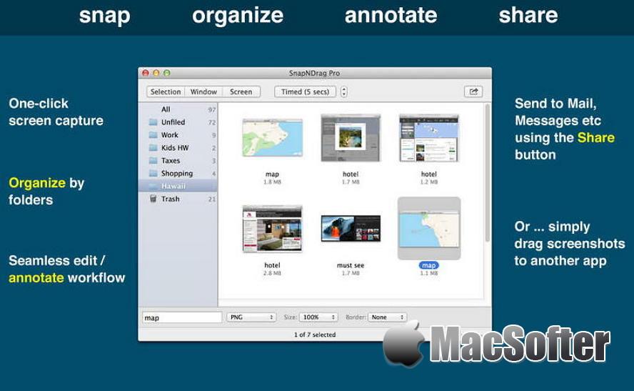[Mac] SnapNDrag Pro : 好用的截图及截图管理工具