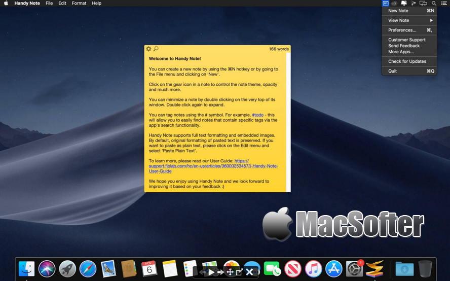 [Mac] Handy Note : 方便好用的桌面便签软件 Mac办公软件 第1张