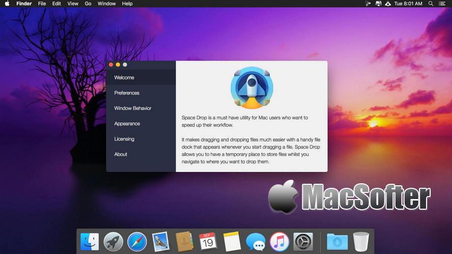 [Mac] Space Drop : 拖拽式增强型文件管理工具 Mac生产力工具 第1张