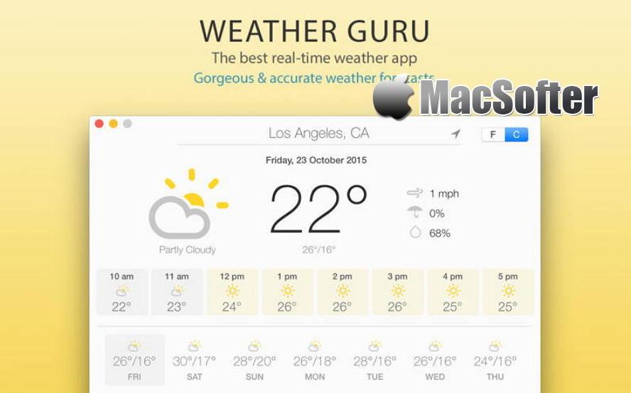 [Mac] Weather Guru : 详细准确的天气预报软件 Mac桌面工具 第1张