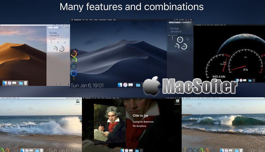 [Mac] Backgrounds : 动态桌面软件 Mac桌面工具 第1张