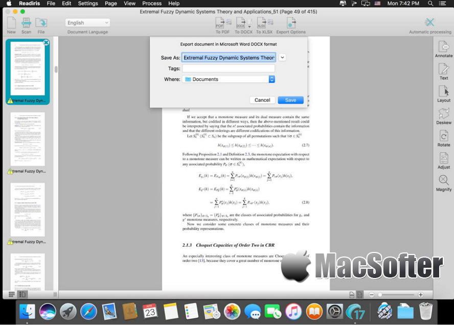 [Mac] Readiris Corporate : 强大的扫描及OCR识别软件 Mac办公软件 第1张