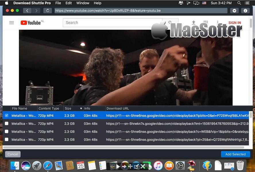 [Mac] Download Shuttle Pro : 支持在线网页视频下载的网络下载工具 Mac网络工具 第1张