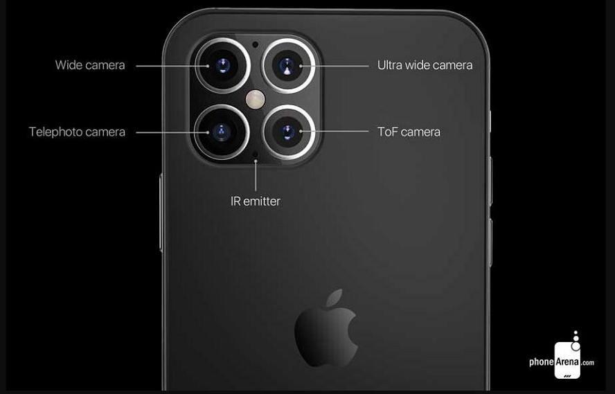 iPhone 12概念图 :外型全面大改造、四镜头和刘海更窄