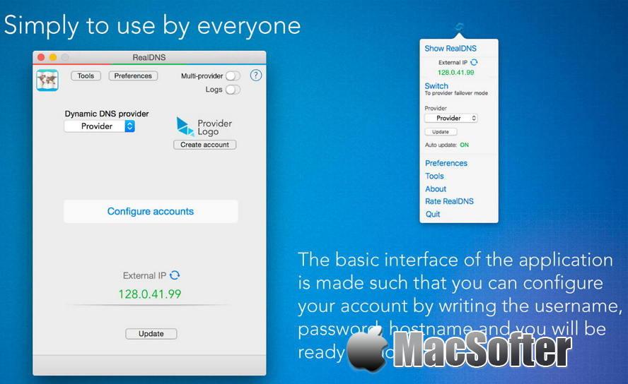 [Mac] RealDNS : 动态DNS客户端 Mac网络工具 第1张