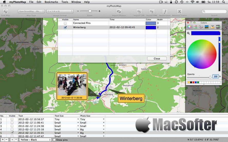 [Mac] myPhotoMap : 照片地图展示工具 Mac图像图形 第1张