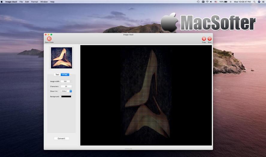[Mac] Image-Ascii :图片转ASCII码工具 Mac图像图形 第1张