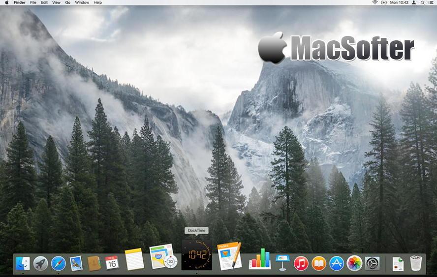 [Mac] DockTime : Dock工具栏的时钟软件