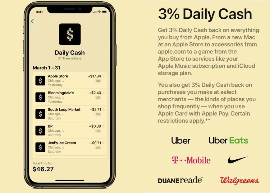 果粉用Apple Card 买Nike 享3%现金返利